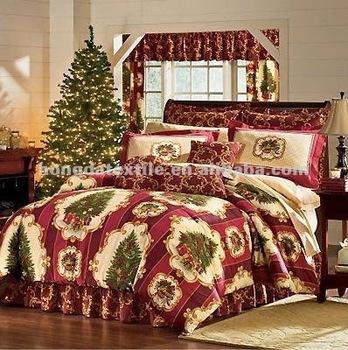 100 Cotton Printed Christmas Tree Bedding Sets Buy