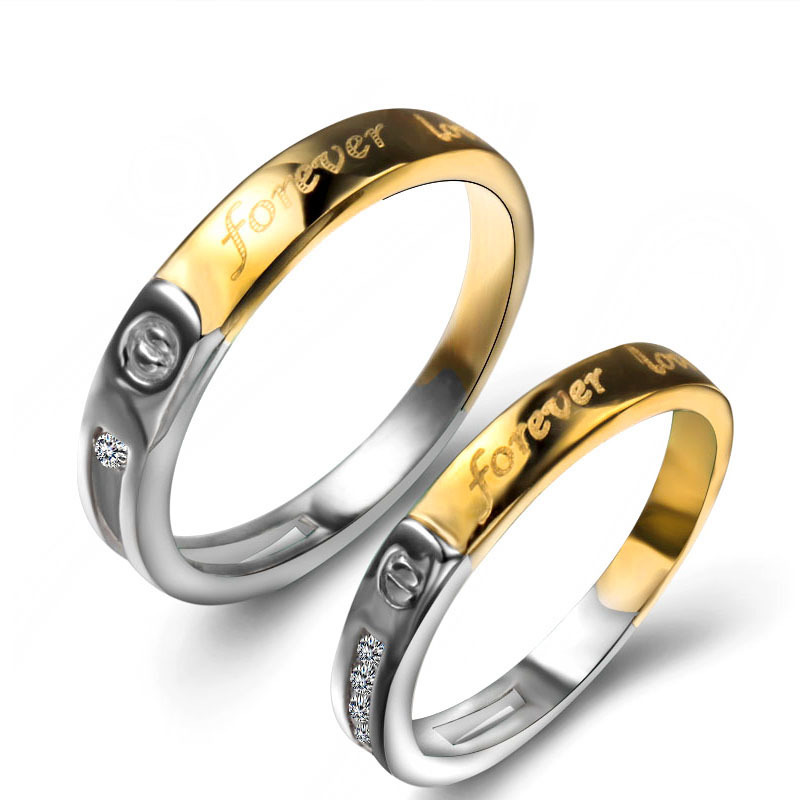 A Pair Price Wholesale Gold Engagement Rings,Sterling