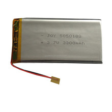 Lipo 5050103 3.7v 3300mAh lithium li ion polymer rechargeable battery pack with pcm for digital products