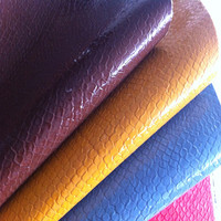 embossed pu bonded leather for bag