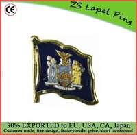 Custom high quality New York Flag Lapel Pin