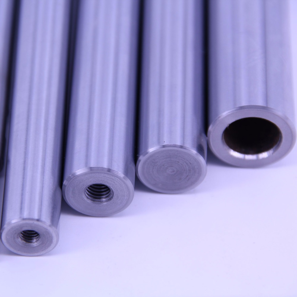 radial holes drilled and tapped solid round shafting available in linear shaft plain bearings