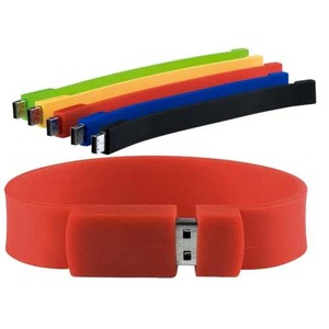 Custom made silicone usb flash drives colorful usb wristband