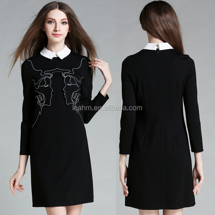 long sleeve women clothes ladies clothing dresses wholesale cotton shirt dresses women for wholesale