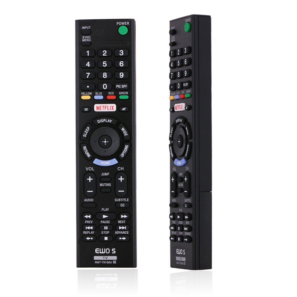TV Remote Control, EWOS RMT-TX102U Replacement Remote Control for Sony HDTV, LED, LCD TV.
