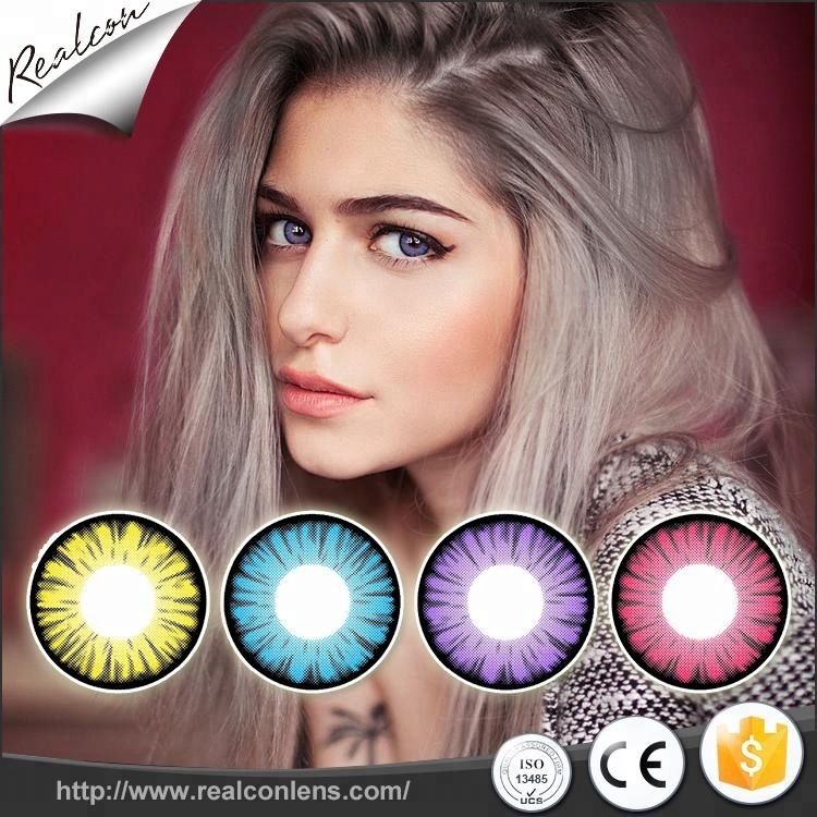 Realcon Manufacturer Wholesale Crazy Contact Lens Halloween Contact Lenses Cosplay Contact Lenses фото