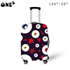 ONE2 design fashion eyes luggage protective cover suitcase for university students