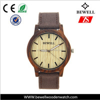 Simple Bamboo watch quartz watch with leather strap online