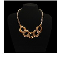 Special Tie design Metal Necklace Vintage Exaggerated Collar Statement Necklaces Personalized chunky Necklace Fashion Jewelry