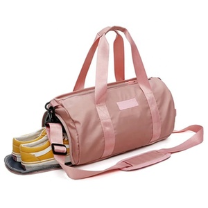 Custom 2019 New Fashion Pink Duffle Women Travel Bag With Shoe Compartment