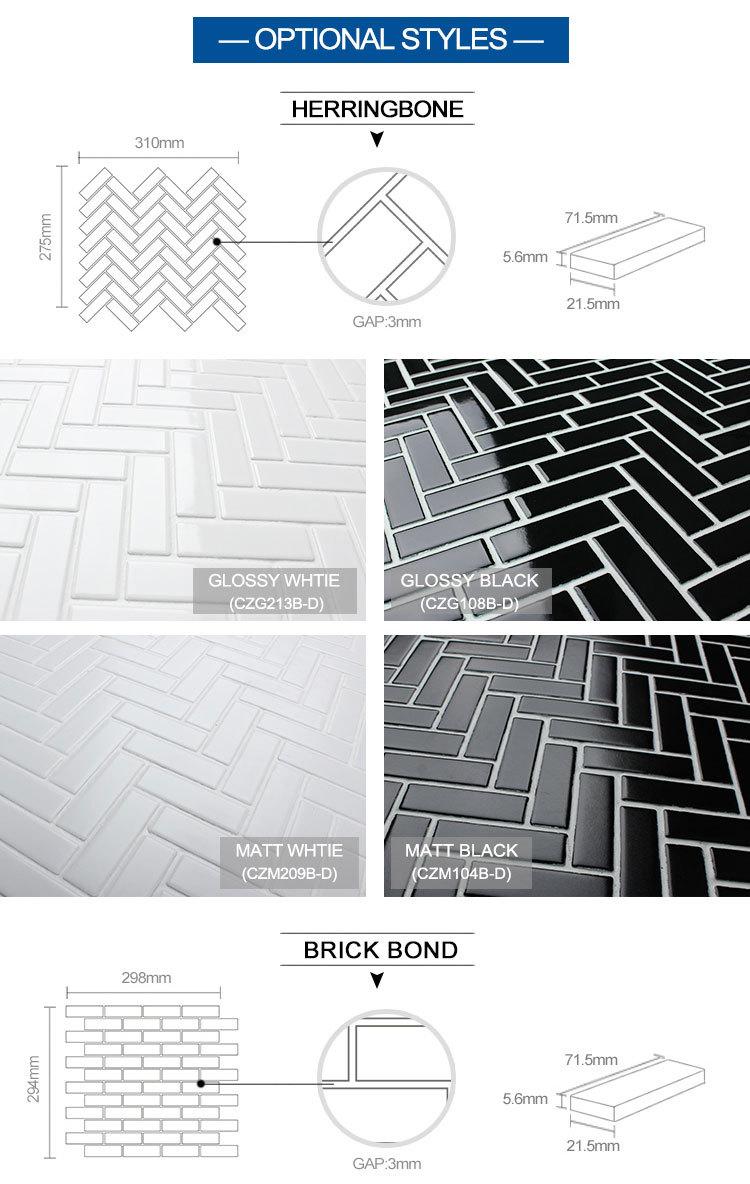 Black Herringbone Mosaic Kitchen Wall Tile Sizes Brand Names Ceramic