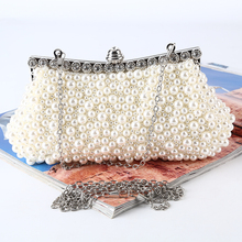 Factory-dieect brand new clutch evening with pearl handmade beaded evening bags for party or banquet
