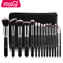 MSQ 15pcs Synthetic Hair Makeup Brush Private Label Make Up Brushes Wholesale Makeup Brush Set