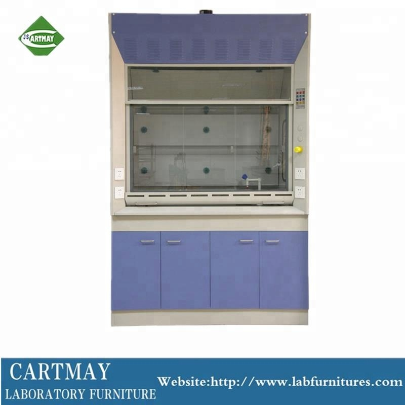 Steel and wood chemical resist fume hood for laboratory