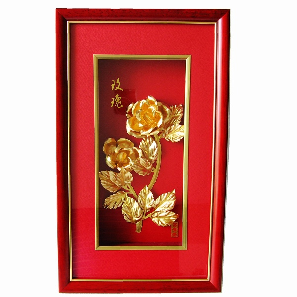 24k Gold Rose Picture Frames 3d Christmas Picture Frame Hot Arts ...