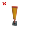 Yellow White Flexible Reflective Traffic Warning Post
