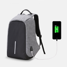Anti-theft Multifunction Backpack Bag Men PC waterproof Polyester Rucksack 25L USb Charging Solid Daypack