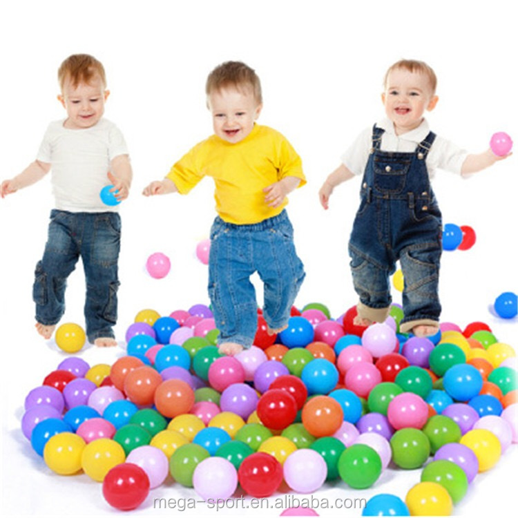China OEM Factory Wholesale Plastic Transparent Clear Color Ocean Balls Million Ball children Play Pool & Pit Sea Balls