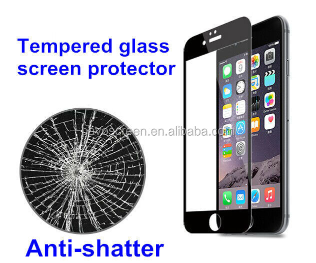 Colorful ,clear,anti-blue and privacy glass screen protector for iPHNE 6
