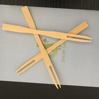 Heathly Safely Bamboo Fruit Fork
