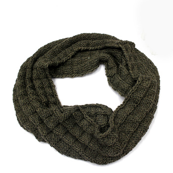 Autumn Winter Cheap Infinity Scarf Women Warm Knit Neck Circle 100% Acrylic Scarves