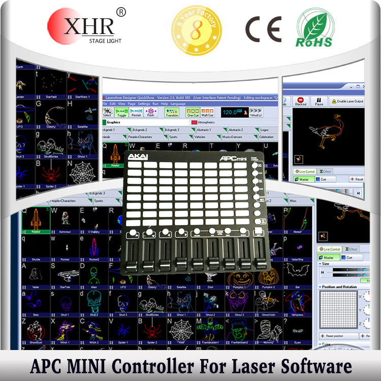 APC Mini MIDI Controller For Quickshow 3.0 Software,Laser Show Controller
