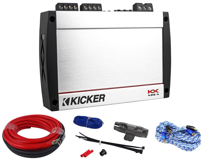 Cheap Kicker 4 Channel Amp Find Deals On Line 250 Watt Rms 4channel Car Amplifier Wire Kit Audio Savings Get Quotations 40kx4004 Kx4004 Kx 400 Class D