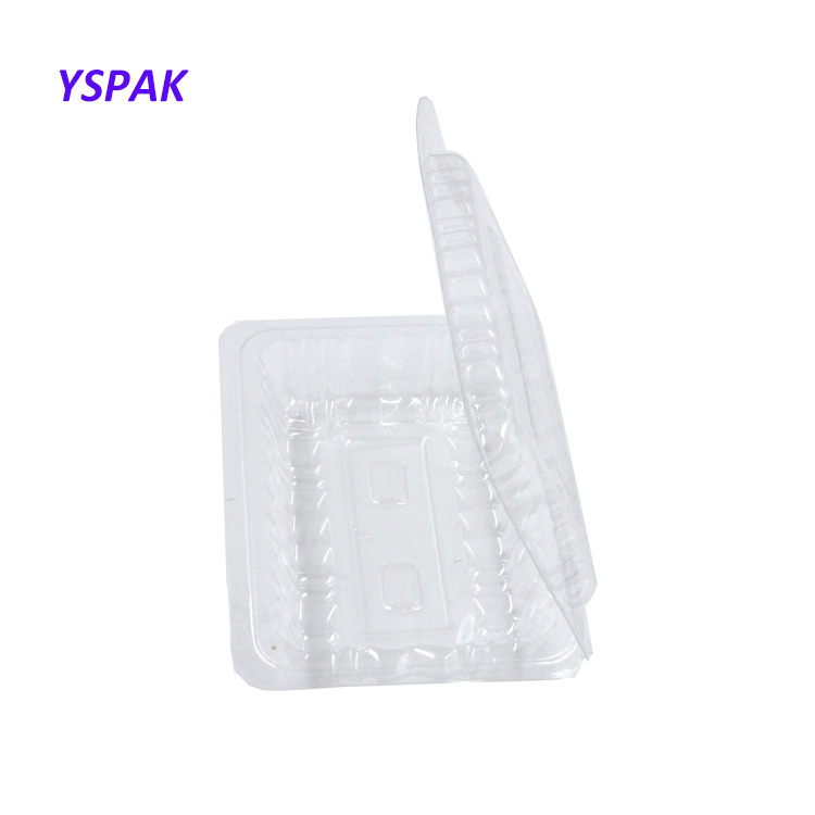 Şeffaf plastik kapaklı cupcake kutuları ambalaj pasta kutusu