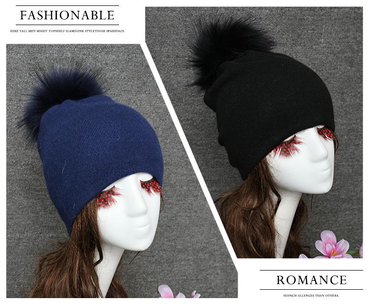 17e631e435371 Warm winter angora knit korean unique winter hat with pompom fur ball