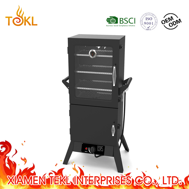 Verticale Gas BBQ Barbecue China Doos Barbecue Restaurant Grill Vlees Machine Koud Roker Vis Roker