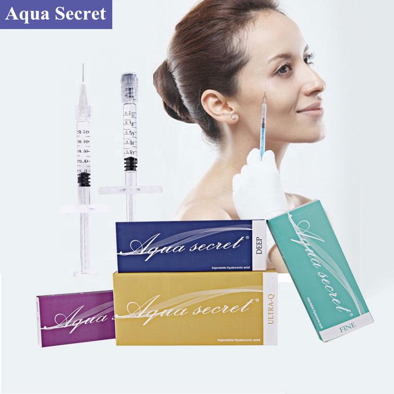 Aqua Secret CE collagen facial ha derma filler 1ml 2ml injectable hyaluronic acid dermal fillers