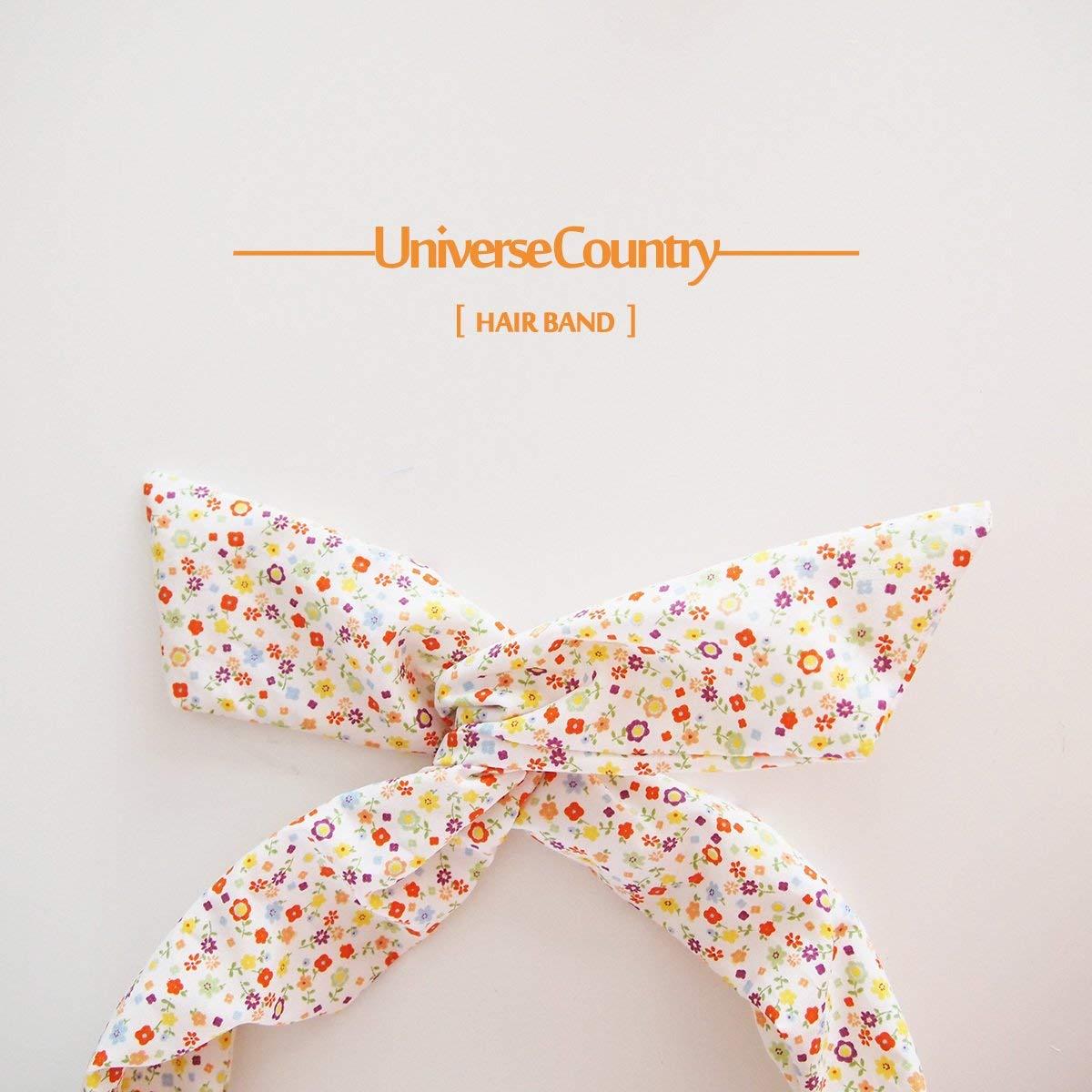 usongs Custom orange floral sweet little fresh fabric ribbon - original design handmade