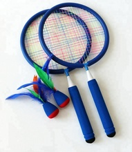 Rubber Foam Racket Kindje Sport Outerdoor <span class=keywords><strong>Badminton</strong></span> Shuttle Kind <span class=keywords><strong>Badminton</strong></span> Tennis
