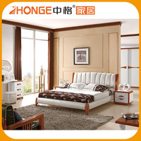 Alibaba Classic White Leather Custom King Size Best Beds Design