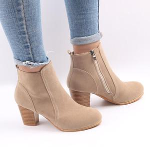 up-0015r Wholesale women shoes thick high heel ankle boots women