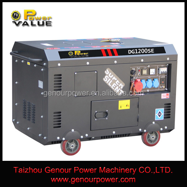 Soundless generator, heavy duty power genrator with diesel fuel for sale