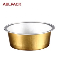 ABL PACK 25ML/0.8oz Small Round Dessert Cake Cups Colorful Disposable Food Grade Aluminum Foil For Baking