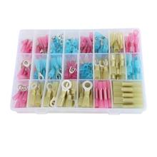 Hampool 270pcs Wire Electrical Ring Spade Screw Heat Shrink Wire Connector Terminal  Butt Connector Kit
