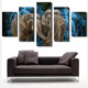 Wall Art Painting 5 Panel Triptych Pictures the Elephant Animal ink paintingOn Prints