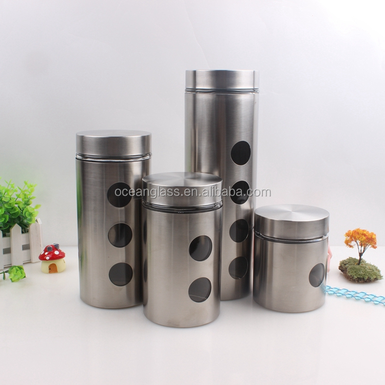 Stainless Steel See Through Canister, Stainless Steel See Through Canister  Suppliers And Manufacturers At Alibaba.com