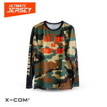 X-COM Super Cool Camouflage Color Quickdry Sport Jersey Custom Ultimate Frisbee T-Shirt