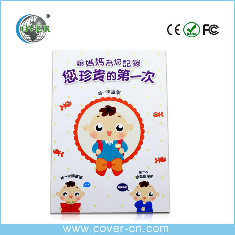 High quality talking products LCD greeting brochure with custom voice
