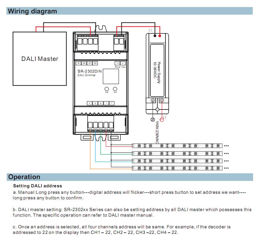 dimmable led wiring diagram lithonia lighting eu2 led wiring diagram sunricher cv din rail dali dimming driver dali master