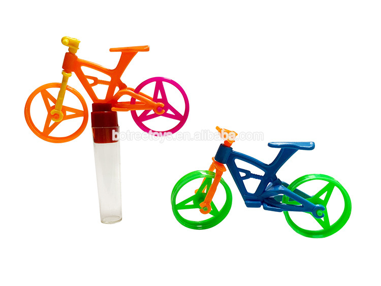 Plastic Bicycle Toy Tube Sweet Candy Filled Toys