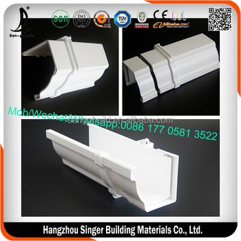 Kenya Pvc Square Gutter K Style 5 2 Inch Dual Wall White
