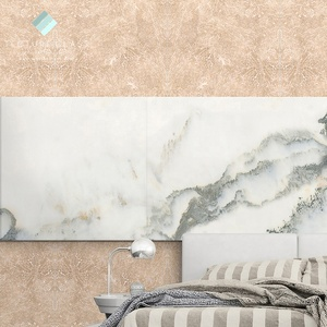 Tecture wall digital printed tempered glass with quartz textured