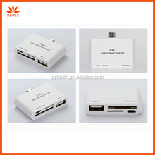 USB OTG Connection TF/SD Card Reader Adapter kit for Samsung