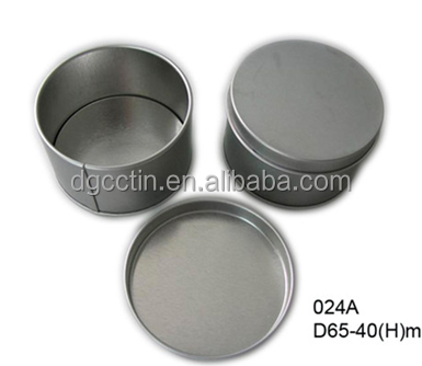 Food Grade tin top ball round soap tin box/tin container