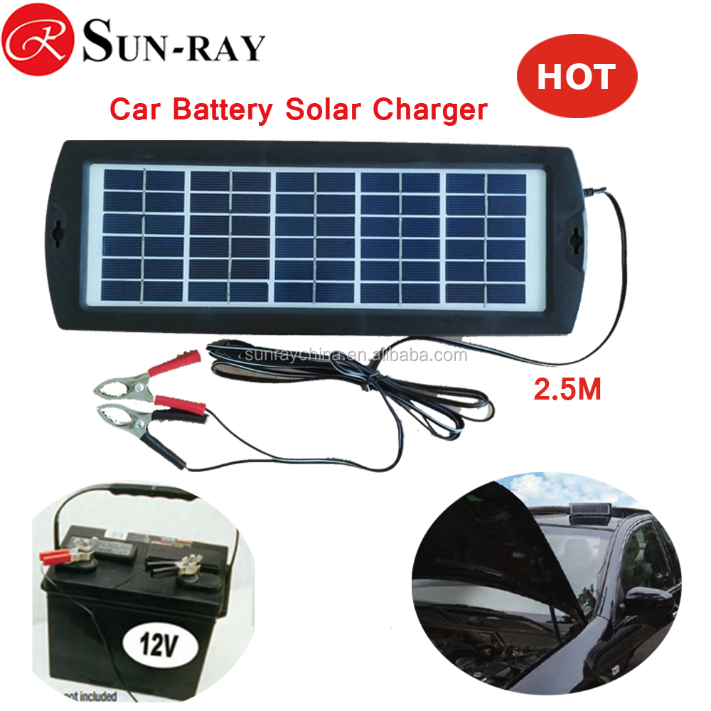 12V 3W Poly Silicon solar car charger for Cars,Trucks,Boat,Motorcycle with ce rohs