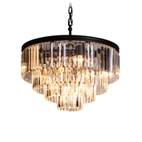 American style pendant lighting fixture 2 Rings Vintage Antique suspension lamp hanging light for Dining room MD2949B